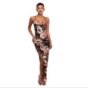 Floral Maxi Body Con Dress
